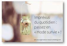 ✿ Imprévus du quotidien : passez en « mode survie » !