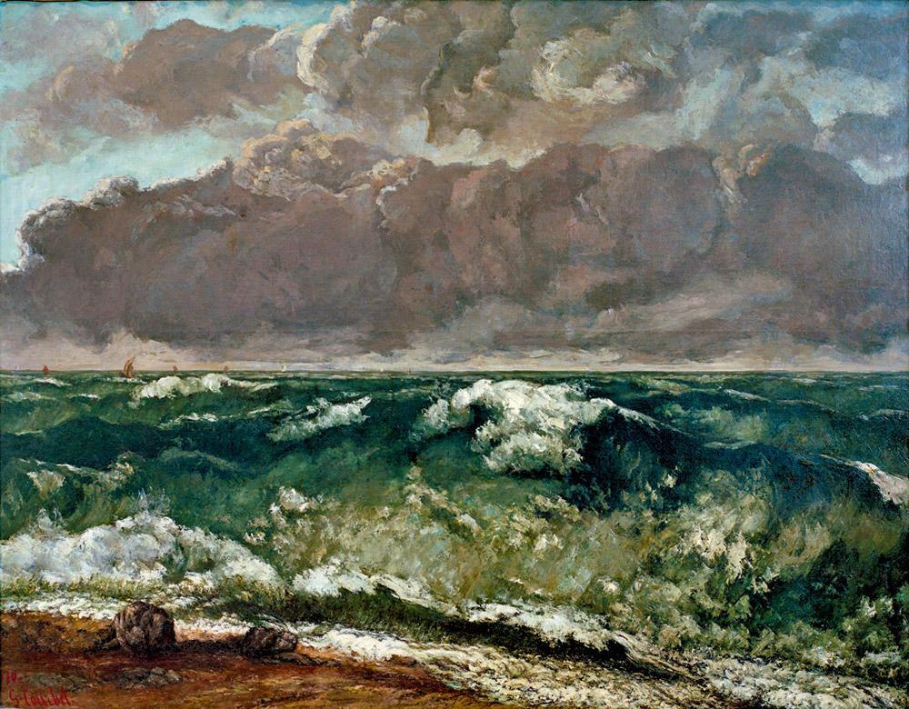 La mer orageuse ou La Vague, deGustave Courbet, 1869-1870.