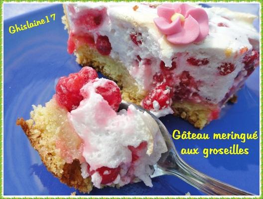 Gâteau meringué aux groseilles