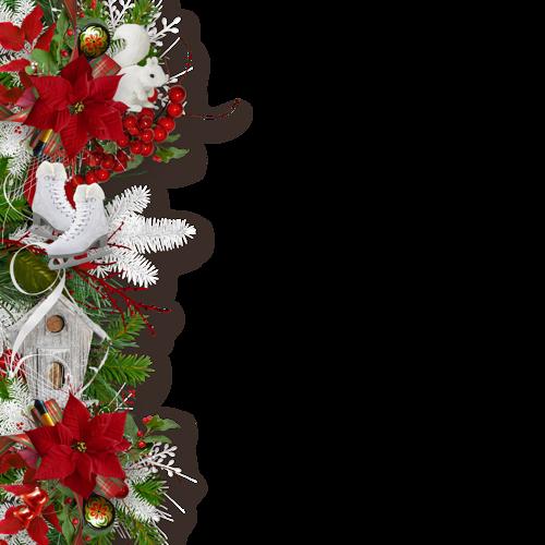 Image Bordure Noel.Bordures De Noel Pleiade De Tubes Chez Magnolias