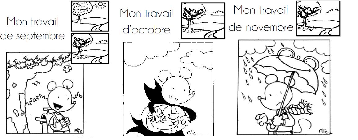 Coloriage Cp Octobre.Pages De Garde Pour Ranger Vos Feuilles A4 L Ecole De Crevette