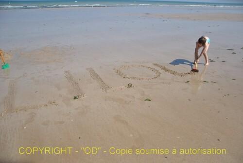 La plage est devenu un tableau