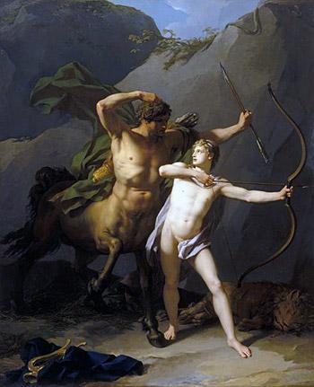 L'éducation d'Achille par Regnault