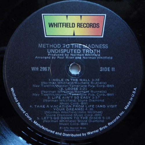 "1976 : Album "" Method To The Madness "" Whitfield Records WH 2967 [ US ]"