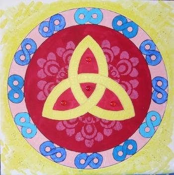 mandala triangle celtique 2