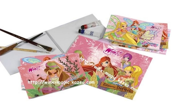 Carnet dessins winx safari