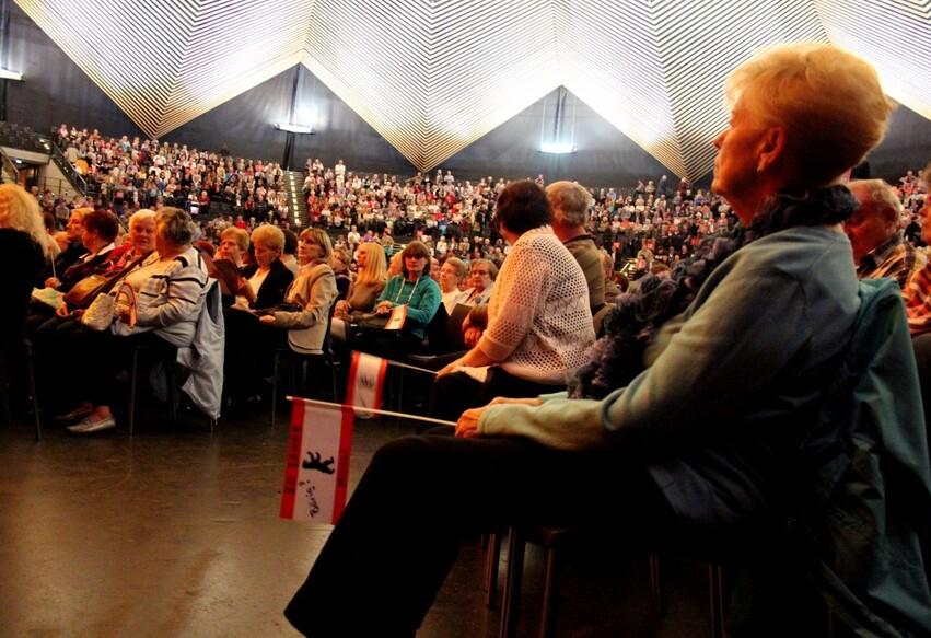 Le public de Hansi Hinterseer à son concert au Tempodrom de Berlin, constitué en majorité de femmes de plus de 50 ans. Crédit : Alexander Abdelilah