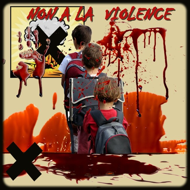 mon gif coup de gueule : non à la violence