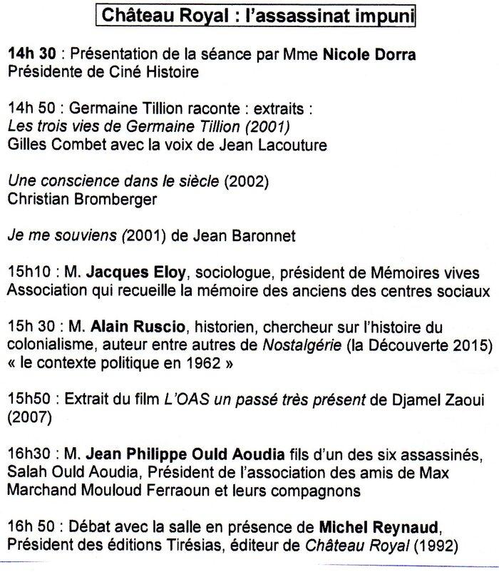 Une information de Jean-François GAVOURY Président de l'Association nationale  pour la protection de la mémoire  des victimes de l'OAS