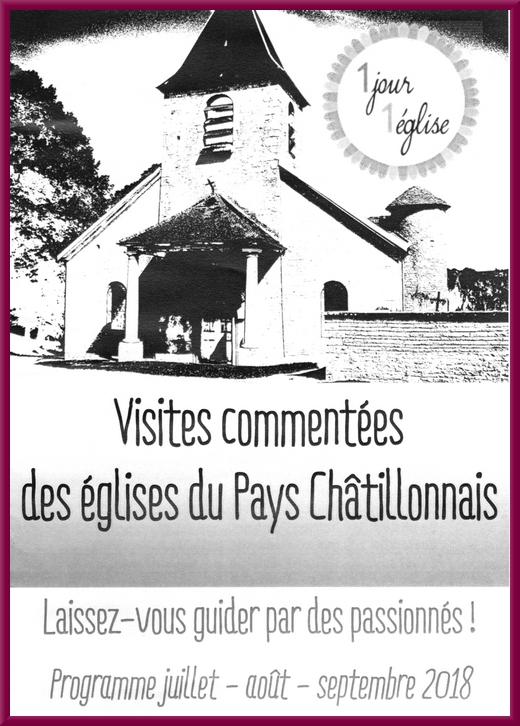 """Les visites d'églises châtillonnaises avec """"Un jour, une église"""" commencent bientôt !"""