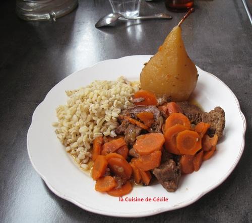 Boeuf carottes aux poires
