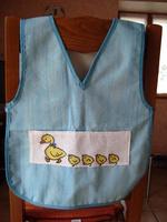 Tablier bleu les canards