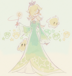 My art mama smash bros rosalina super mario galaxy luma why did i tag smash i'm hiding under her dress