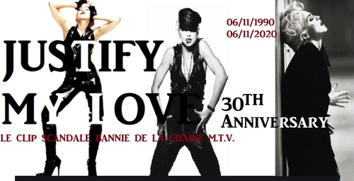 JUSTIFY MY LOVE 30 ANS