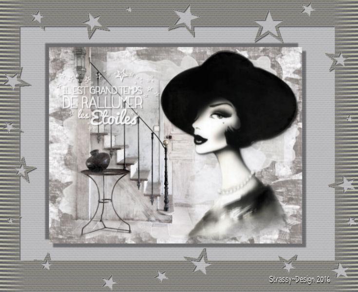 Femme en noir et blanc - Chez Maja