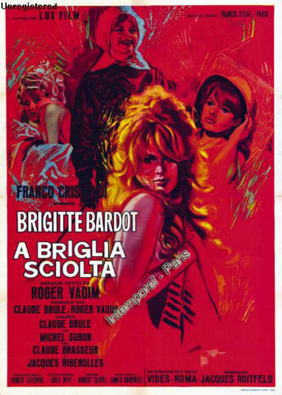 LA BRIDE SUR LE COU - BOX OFFICE BRIGITTE BARDOT 1961