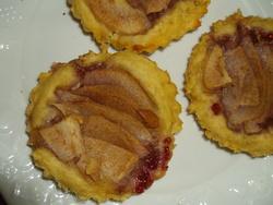 Tartelettes poires-framboises