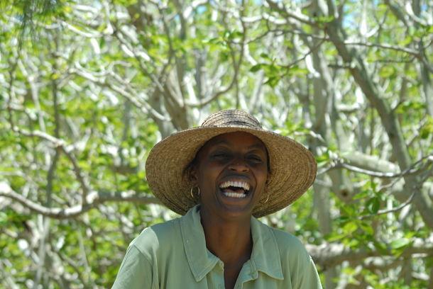 Rodrigues, sur l'île aux Cocos, Marie-Paule, guide nature