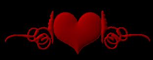 Amour, Amitié, coeurs. Barre de séparation