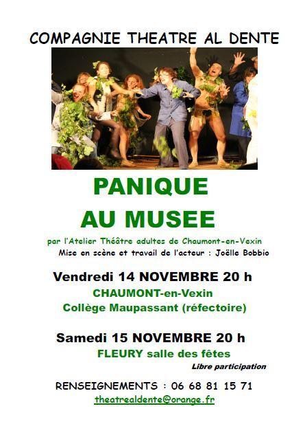 PANIQUE AU MUSEE. compagnie theatre al dente.
