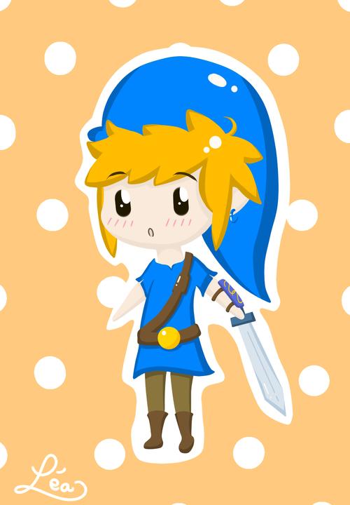 Link bleu chibi