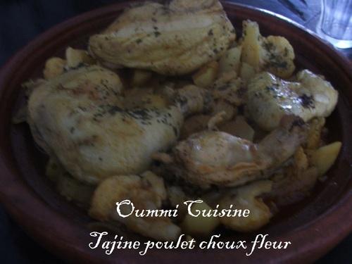 Tajine de poulet choux fleur et pommes de terre
