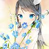 Thème fille fleur