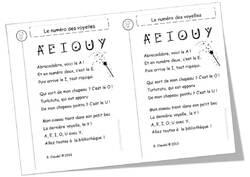 Un poème pour l'apprentissage des voyelles