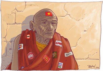 Marc Bati un dessin pour le Tibet