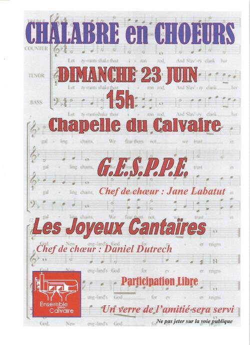 Concert Chalabrele Dimanche 23 Juin à 15h