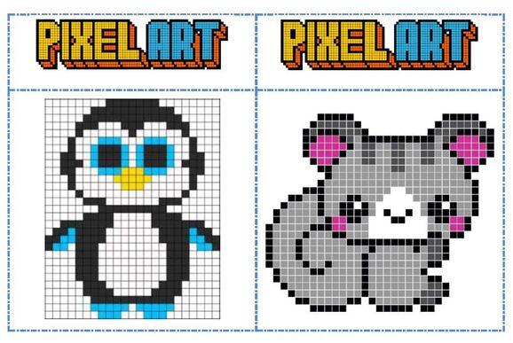 Fichiers modèles Pixel art pour les temps d'autonomie