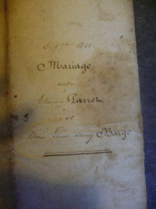 Mariage Fanny Barge