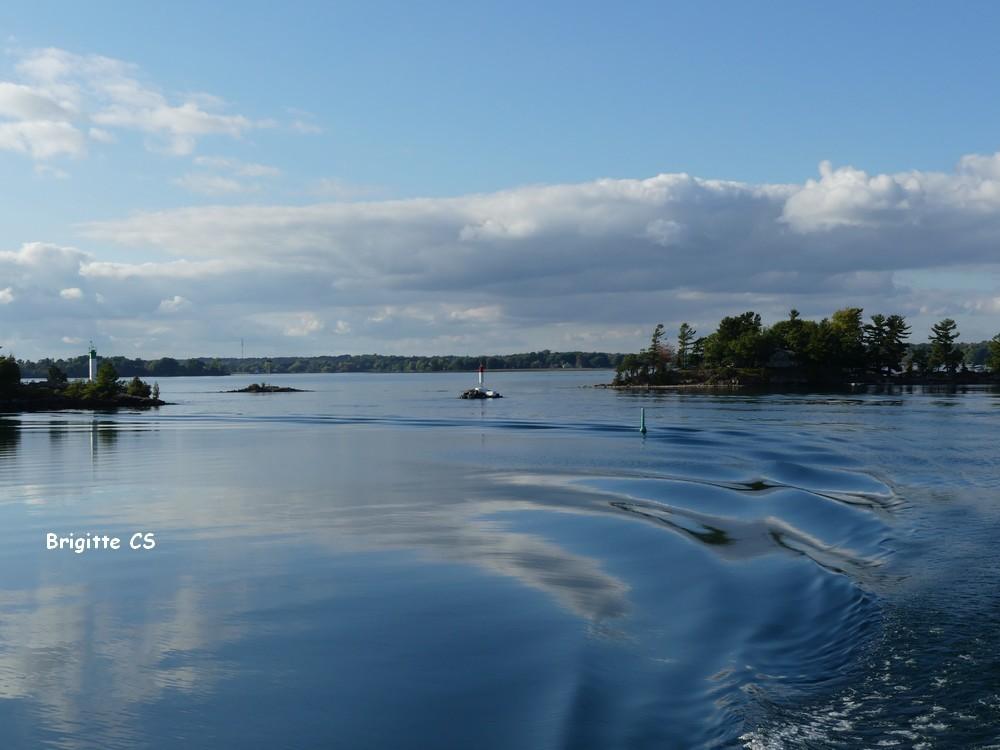 Croisière sur le Saint-Laurent, dans le Parc Naturel des Mille Iles au Canada...