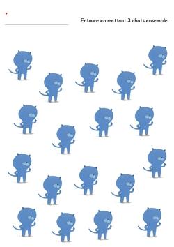 Encore des chats à compter, regrouper, reconnaitre