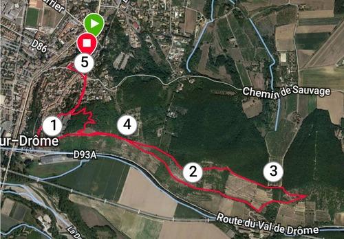 Parcours et profil du 5 km