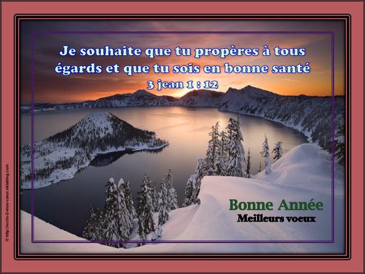 Bonne et Heureuse Année / Meilleurs voeux - 3 Jean 1 : 12