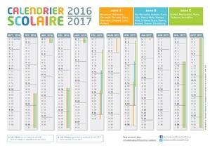 CALENDRIER SCOLAIRE 2016/2017