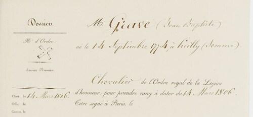 * GRAVE  Jean-Baptiste
