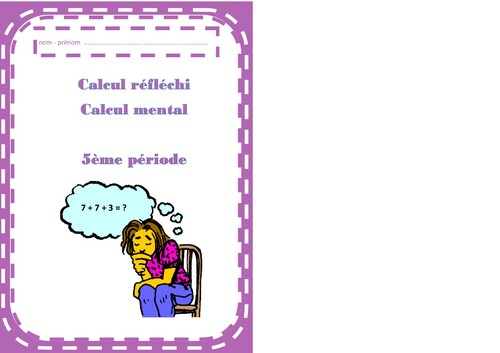Calcul mental - calcul réfléchi-  CE1