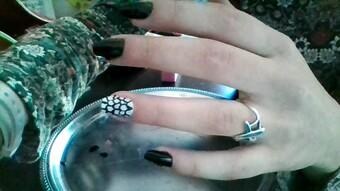 nail art abstrait