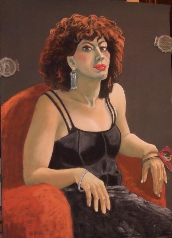 Mercredi - Portrait de femme aux pastels secs (suite et fin)