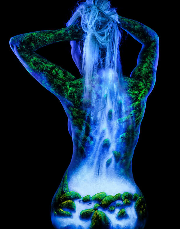 body painting cascade