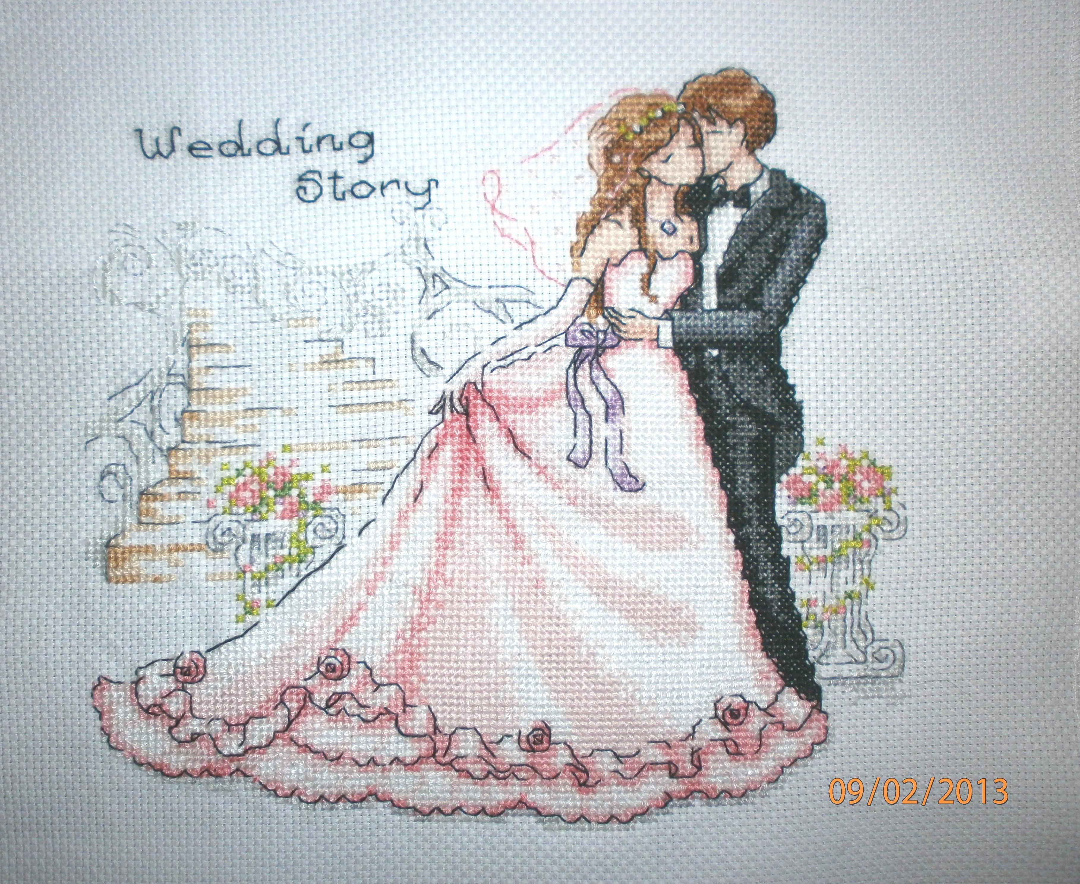 Mariage 10 les ptites x de cc - Point de croix mariage grilles gratuites ...