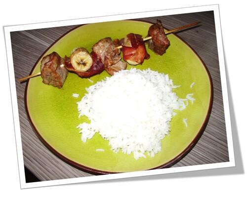 Brochettes sucrées/salées