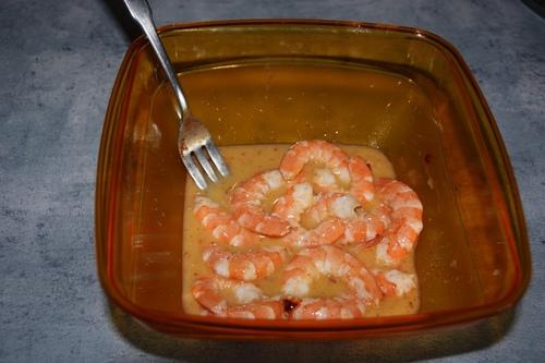 Crevettes et chou-fleur