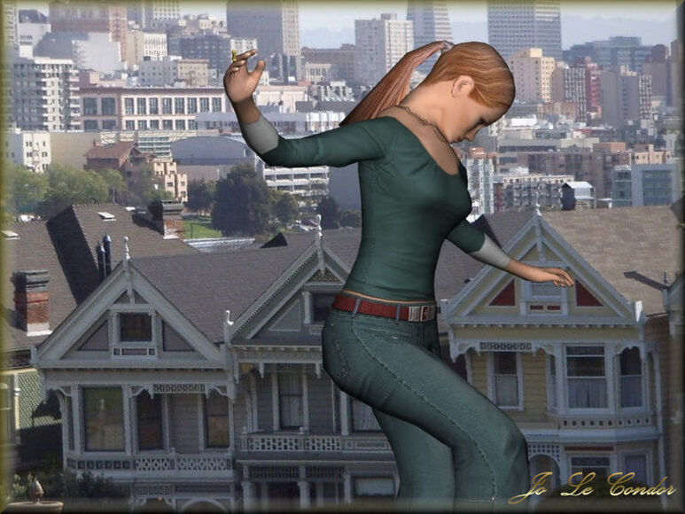 Danseuse en 3d à San Francisco.....