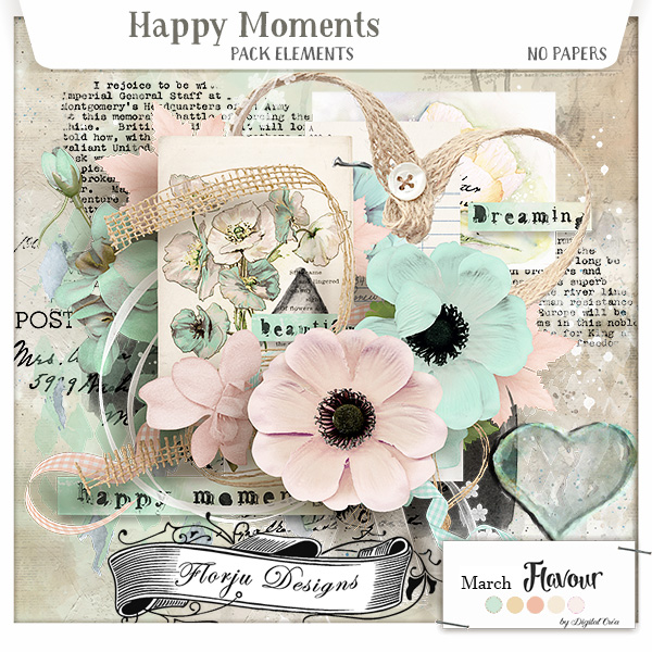 Happy Moments { Elements PU } by Florju Designs