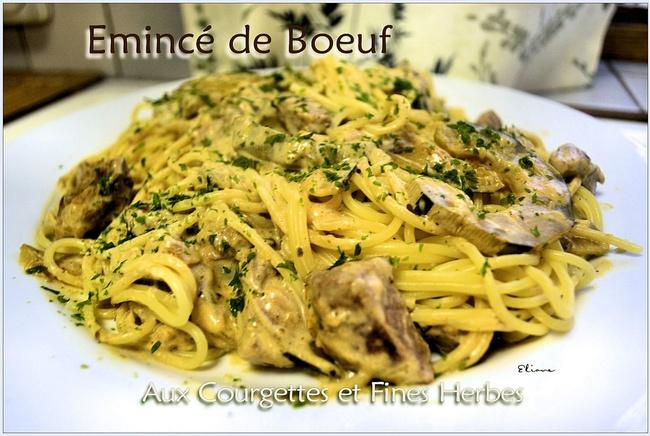 Emincé de Boeuf aux Courgettes et Fines Herbes