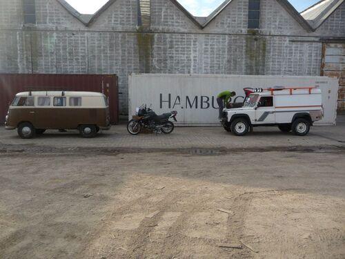 Envoi de la moto en Amérique du sud