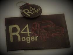 étui pour carte grise et porte-clé R4